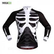 WOSAWE BC273-00L Primavera / Otono de manga larga Jersey de ciclismo - Negro + Blanco (L)