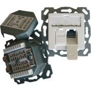 TN-CAT6A EK50-h-rws (5 Stück) - Anschlussdose Kat6A design 2xRJ45,EK-D,hz,rws TN-CAT6A EK50-h-rws