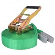 vidaXL zöld, 150 kg teherbírású heveder 15 m x 50 mm