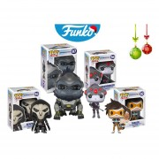 Set 4 overwatch Funko pop videojuego reaper tracer winston widowmaker