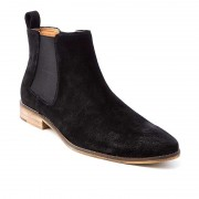 Croft Camden Shoes Black Suede FLP698