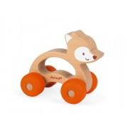 JANOD Drewniany lisek pojazd Baby Pop - autko dla maluchów, niemowlaków 12m+,