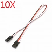 10X 2AWG 60 Core 30cm Male to Male Futaba Plug Servo Extension Wire Cable Parallel Cable