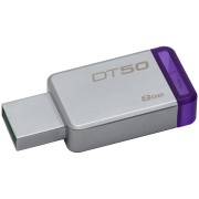 USB DRIVE, 8GB, KINGSTON Data Traveler 50, USB3.0, Metal/Purple (DT50/8GB)