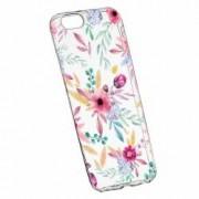 Husa Silicon Transparent Slim Happy Flowers Apple iPhone 7 Plus 8 Plus
