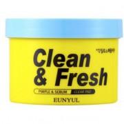 EUNYUL «Clean & Fresh Pimple & Sebum Clear Pad» Очищающие диски с кислотами, 70 шт.