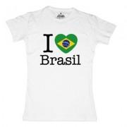 geschenkidee.ch Ländershirt Brasilien, Weiss, S, Frau