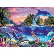 DOLPHIN tropical FISH Glow in the Dark JIGSAW Puzzle by abc distributing