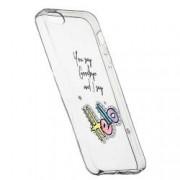 Husa Silicon Transparent Slim Hello 148 Apple iPhone 5 5S SE