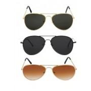 Ivonne Butterfly Sunglasses(Black, Black, Brown)