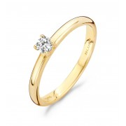 Blush 1112YZI Gouden zirkonia ring Maat 54 is 17.25mm