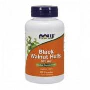 Люспи от Черен Орех 500 мг. - Black Wallnut Hulls - 100 капсули - NOW FOODS, NF4606
