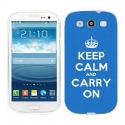 Husa Samsung Galaxy S3 i9300 i9301 S3 Neo Silicon Gel Tpu Model Keep Calm Carry On