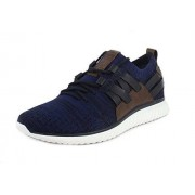 Cole Haan Grand Motion Tenis para Hombre con Tela Stitchlite, Navy Ink/Peony Knit/British Tan/Optic White, 12 US