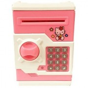 Electronic password protected Piggy or money Bank with Hello Kitty Cartton charactor in Pink Color