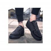 Ocio Transpirable Zapatillas De Deporte Zapatos De Lona --negro