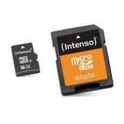 Intenso 3413470 Micro SD clase 10 16GB cadapt
