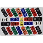 Express Super Power 25 Pcs car Set (Multicolor)