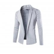 chaqueta corta de estilo elegante escote V color gris