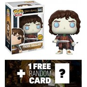Frodo Baggins (Chase Edition): Funko POP! Movies x Lord of the Rings Vinyl Figure + 1 FREE Official Hobbit Trading Card Bundle (13551)