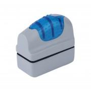 Cepillo Magnético Flotante Práctico Limpiador De Raspador De Algas De Cristal De Tanque De Peces De Acuario Gris Y Azul