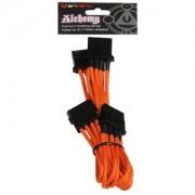 Cablu adaptor BitFenix Alchemy 4-pini Molex la 3x 4-pini Molex, 55cm, orange/black, BFA-MSC-M3MOK-RP