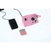 Profi pedálos műköröm csiszológép készlet SilverHome - 402 pink - 35000rpm