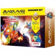 Joc de constructie magnetic 62 piese Magplayer
