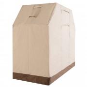 Outsunny Telo Protettivo per BBQ in Oxford Beige marrone 152 × 66 × 122cm