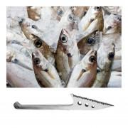 Eh Al Aire Libre De Pesca De Acero Inoxidable Pescado Arpón Cuchillo De La Escala De Pescado Con Vaina-Plata