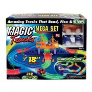 Magic Tracks Mega Set with RED & BLUE Car | As Seen on TV | 360 Piece Glowing 18' Track Set