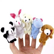 KateDy 2 Packs/20pcs Baby Fingers Plays Children's Fingers Simulation Games Learn Animal Puppet Toy Dolls Velvet Children's Learn Play Story Toy