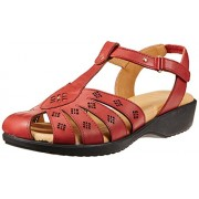 Dr. Scholl's Women's Paris Closed Sandal Red Leather Fashion Sandals - 4 Uk/India (37 Eu)(6645935)