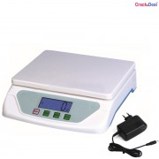 CrackaDeal New TS 500 Digital 20Kg With Adapter Electronic Weighing Scale(White, Blue)