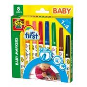 SES Baby markers in 8 verschillende kleuren