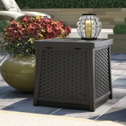 Suncast Elements Furniture Side Table with Storage