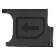 Sim Card Slot Sim Tray Holder Replacement Part for Sony Xperia Z Ultra (BLACK)