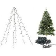 Lunartec Guirlande lumineuse 6 fils / 240 LED effet cascade pour sapin de Noël