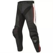 DAINESE Pantalon Dainese Misano Pelle N32 Noir Blanc Rouge Fluo