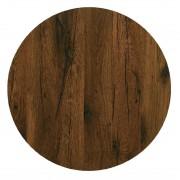 Werzalit plus Werzalit Pre-drilled Round Table Top Antique Oak 600mm