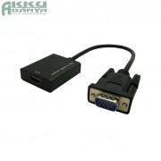 VGA apa - HDMI anya átalakító adapter 28cm, fekete