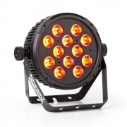 Beamz BT300 FlatPAR 12x 12W 6-en-1-LEDs RGBAW-UV DMX IR-mando a distancia (Sky-151.310)