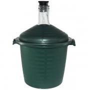 Damigeana 10L, Dop cauciuc, Cos din plastic verde