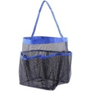 Di Grazia Quick Dry Hanging Toiletry and Bath Organizer with 8 Storage Compartments, Shower Tote, Mesh Shower Caddy, Perfect Dorm, Gym, Camp & Travel Tote Bag, Black-Blue Travel Toiletry Kit(Black, Blue)