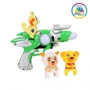 Smiles Creation Flash Electric Gun Set with Flashing Light and Music Toys for Kids