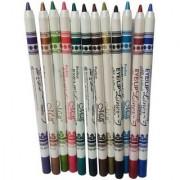 M.N ME Now Second Generation 12 PCS Multi Colours Eye Lip Liner Pencil