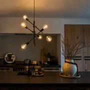 QAZQA Przemysłowa lampa wisząca czarna 6 lamp - Sydney