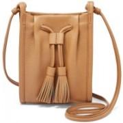 Fossil Women Tan Genuine Leather Messenger Bag