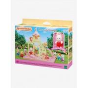 SYLVANIAN 5319 - O castelo e o bebé coelho SYLVANIAN FAMILIES bege claro liso com motivo