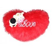 Tickles Couple Teddy Sitting on Love Heart 30 cm